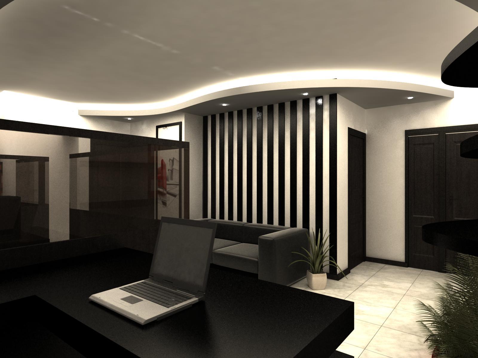 پروژه طرح سه بعدی فضای اداری