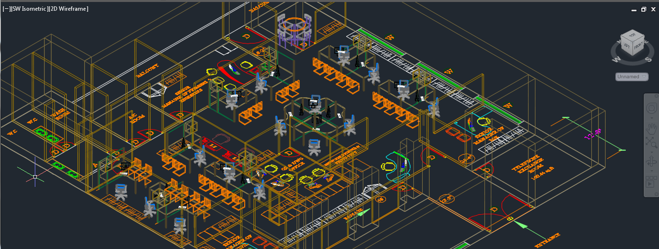 طرح سه بعدی فضای اداری