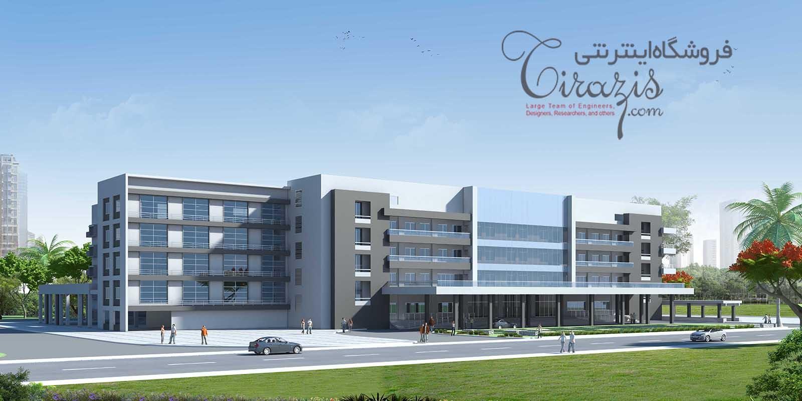 بیمارستان ۱۲۰ تختخوابی - پروژه کامل اتوکدی