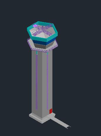 طراحی سه بعدی برج کنترل فرودگاه