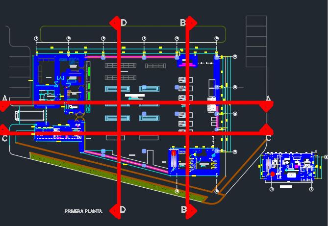دانلود پروژه اتوکد طراحی سوپرمارکت